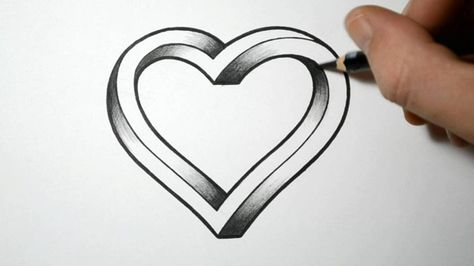 How To Draw An Impossible Heart Things To Draw Drawings
