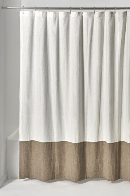 Aquidneck Colorblock Shower Curtain 72 X 72 Black Shower