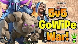 CAN GOWIPE WIN A WAR? - 5v5 Friday GoWiPe Challenge - Clash
