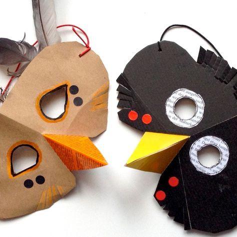 Diy Vogelmasken Fur Kinder Drossel Und Amsel Tiermasken