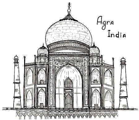 Pin By Noelia Hernandez On La Luna Taj Mahal Drawing Architecture Sketch Renaissance Architecture