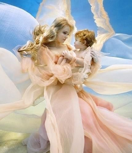 Angel Love. Beautiful, love this...reminds me of Lil Roger!