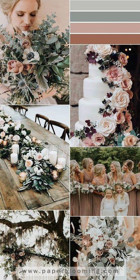 5 Stunning Neutral Wedding Color Combination Ideas to Get Inspired - EmmaLovesWe. 5 Stunning Neutral Wedding Color Combination Ideas to Get Inspired – EmmaLovesWeddings Neutral Wedding Colors, Winter Wedding Colors, Wedding Colors Green, Blush Winter Wedding, Elegant Wedding Colors, Spring Wedding, Sage Green Wedding, Dusty Rose Wedding, Wedding Flowers
