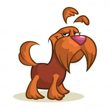 Pretty And Funny Scottish Terrier Dog Cartoon Illustration Stock