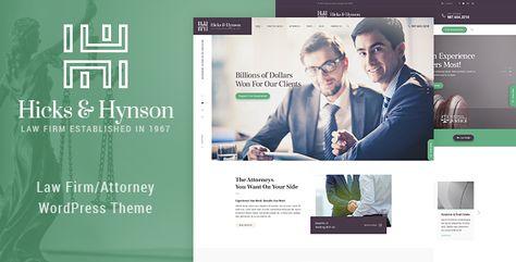 Hicks & Hynson - Law Firm/Attorney  WordPress Theme