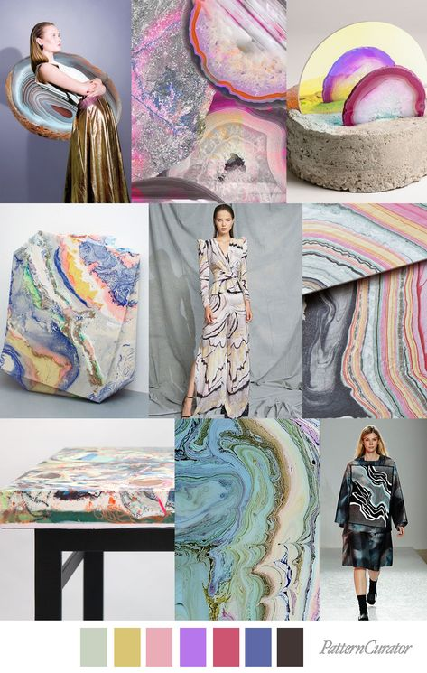 MINERAL ART - color, print & pattern trend inspiration for SS 2020 by ...