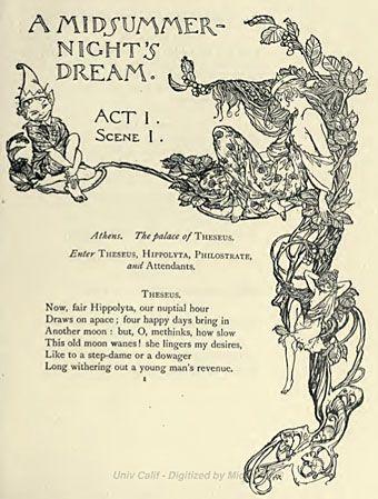 Arthur Rackham, A Midsummer-Night's Dream, 1908.