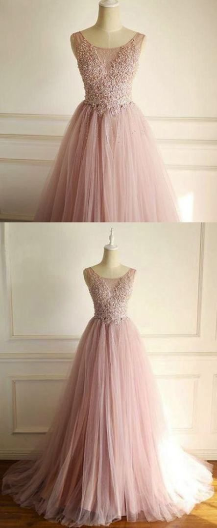 Ready to Ship!In Stock 30/% Discount US Size 10 Ankle Length Flower Lace Prom Dress Pink Party Dress Long Prom Dress Pearl Sleeve Ball Gown
