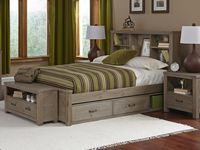 Seaview Bookcase Bed Full Driftwood Bookcase Bed Trundle Bed Frame Full Bed With Storage