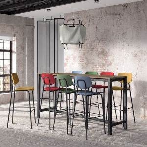 Table Haute De Bar Hauteur 110 Cm En Stratifie Vienna En 2020