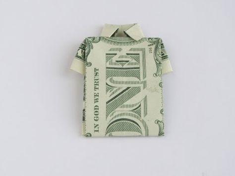 Money Origami Shirt - YouTube