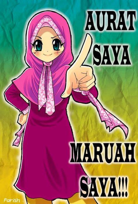 Koleksi Gambar Kartun Ana Muslim Dan Muslimah Muslimah