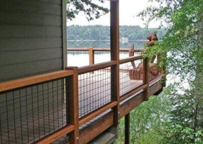 Gallery Wild Hog Railing In 2020 Wire Deck Railing Deck Railing Design Patio Railing