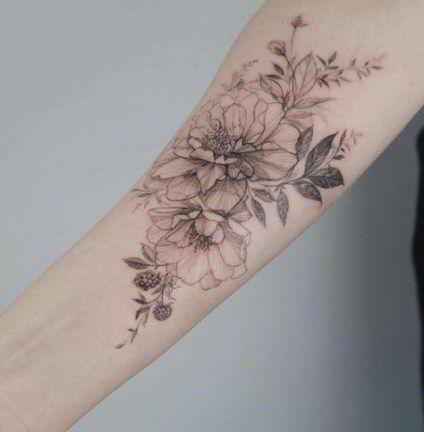 Tattoo Girl Arm Ideas Roses 47 Ideas Flower Tattoo Arm Flower Tattoo Flower Wrist Tattoos