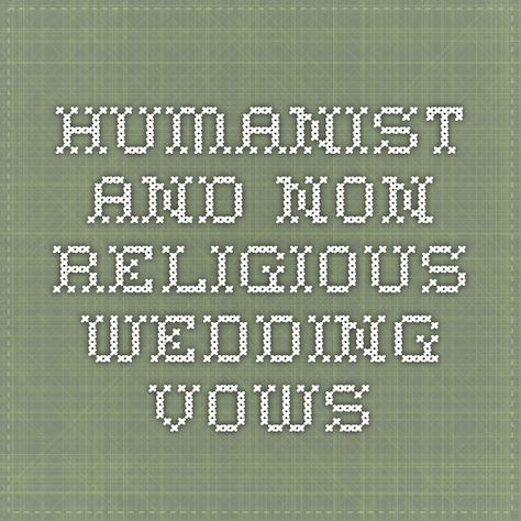 Humanist and Non-Religious Wedding Vows