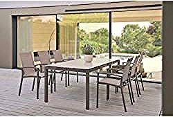 Stern Evoee Stapelsessel Aluminium Textilene Taupe Kaschmir Sternstern In 2020 Balcony Chairs Garden Chairs Outdoor Furniture Sets