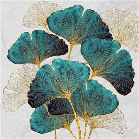 Diamond Painting, Leaf Art, Embroidery Art, Painting Kits, Flower Art, Painting, Ginkgo Leaf, Painting Crafts, Diamond Drawing