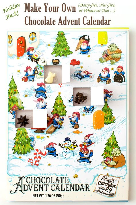 Make Your Own Chocolate Advent Calendar Holiday Hacks Recipe In 2020 Chocolate Advent Calendar Make Your Own Chocolate Holiday Calendar