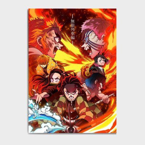 Demon Slayer Mugen Train Canvas Poster - 21x30cm