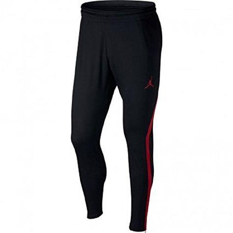 e30eb3f741b8e Nike Mens Jordan 23 Alpha Dry-Fit Athletic Fit Training Pants Black/Gym Red  889711-011-Size Large in 2019   Fashion   Jordans for men, Black pants, Nike  men