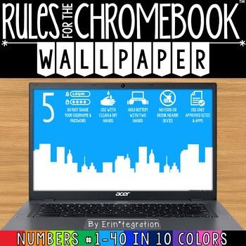 Chromebook Backgrounds With Rules Amp Numbers 1 40 Use That Valuable Background Space To Display Google Chrom Chromebook Digital Literacy Grouping Students