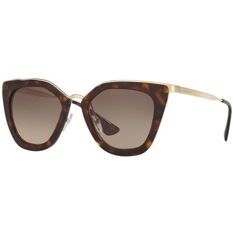 47c25ee7073f9 Prada Pr 53ss 52 Tortoise Cat Sunglasses (€315) ❤ liked on Polyvore  featuring