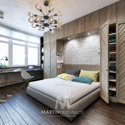 дизайн интерьера спальни стиль лофт фото идеи дизайна каталог