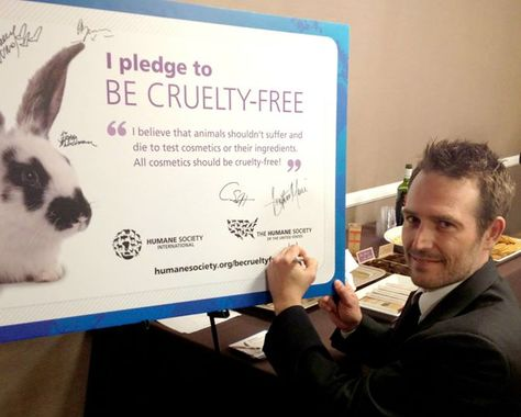 """""""I am joining with the Be Cruelty-Free campaign in calling for an end to the unspeakable cruelty so many animals endure for cosmetic testing. To try to rationalize animal testing for cosmetic purposes is simply disgusting. I plead with you to choose non-animal tested products whenever possible. We are these innocent animals' only voice."""" – Michael Vartan #BeCrueltyFree"""