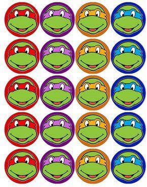Ninja Turtles Cupcake Toppers Google Search Ninja Turtle Mask Ninja Turtles Birthday Party Teenage Mutant Ninja Turtles Party