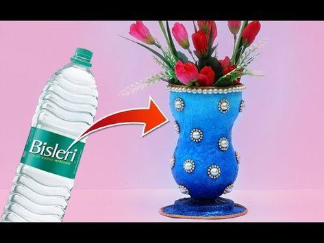 Easy Best Out Of Waste Craft Flower Vase Craft Ideas Pinterest