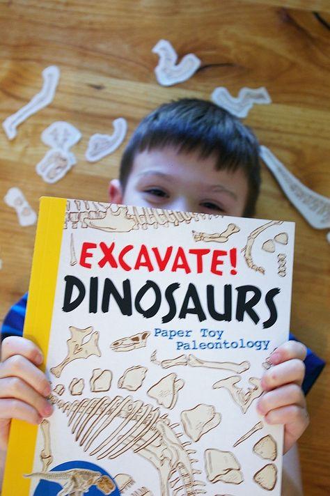 excavate dinosaurs book - kids activity - BrassyApple.com