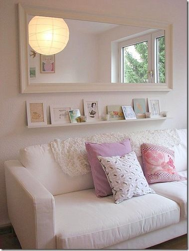 High Quality Mirrors Above Couch With Wreath. Open The Room Up With Mirrors. | Living  Room Decor | Pinterest | Wreaths, Room And Living Rooms Part 30