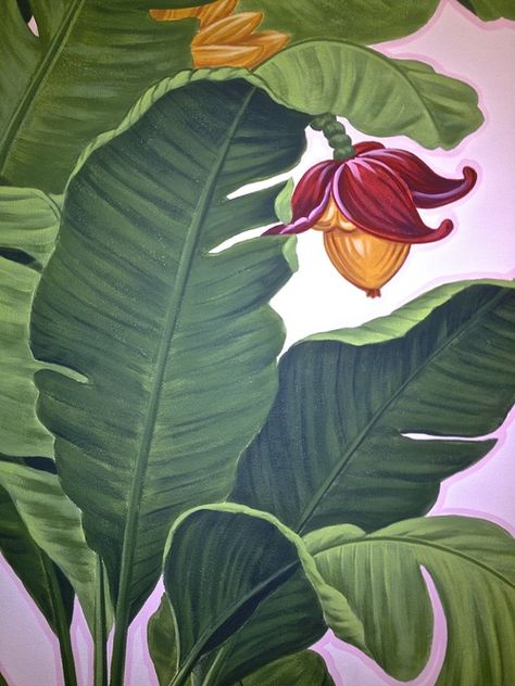 Alfa img - Showing > Watercolor Painting of Banana Leaf
