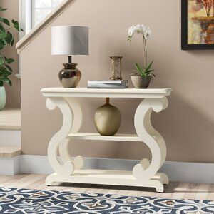 Braeden Console Table In 2020 Wood Console Table Console Table Wood Console