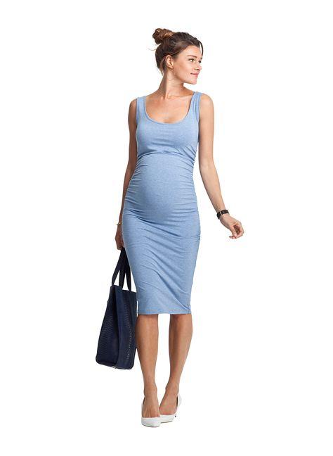 8eb33e4e864 Ellis Maternity Tank Dress in Blue