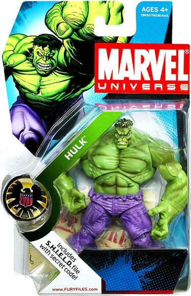 NEW MARVEL UNIVERSE HULK ACTION FIGURE COMIC SHOT SERIES 4 #9