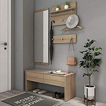 Newface Garderobe Holz Sandeiche Dekor 97 5 X 25 X 180 Cm