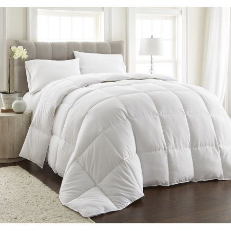Chezmoi Collection All Season Down Alternative Comforter Box Stitch Quilted Duvet Insert With Corner Tabs Full Queen White Walmart Com In 2021 White Comforter Bed Comforters Down Comforters