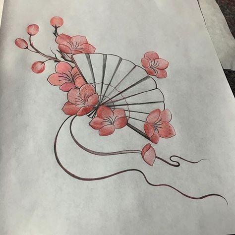 fan and Sakura blossoms…