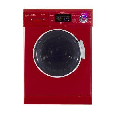 Equator 1 6 Cu Ft All In One Compact Washer And Electric Dryer Color Merlot Washer Dryer Combo Washer And Dryer New Washer And Dryer