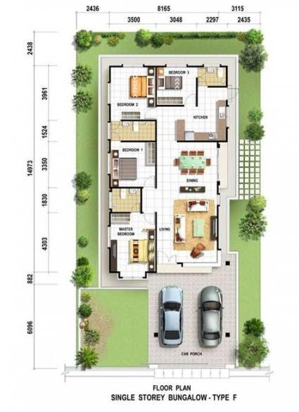 17 Trendy House Plans Narrow Lot Modern Single Storey House Plans New House Plans Brick House Plans