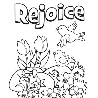 Rejoice | Free Coloring Page | Biblical | Easter coloring pages ...
