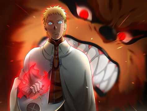 Naruto Uzumaki [Nanadaime Hokage] y Kurama by AiKawaiiChan on DeviantArt