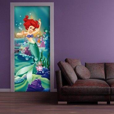 Disney Princess Ariel Door Poster Deco Chambre Enfant Deco
