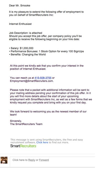 Job Offer Email Template #InternetEnthusiast The - accept job offer email