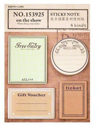 Vintage Traveller Journal Theme Sticky Notes Pad 9 5 13cm Diy Memo Pad 60 Us 2 65 Sticky Note Pad Memo Pad Sticky Notes