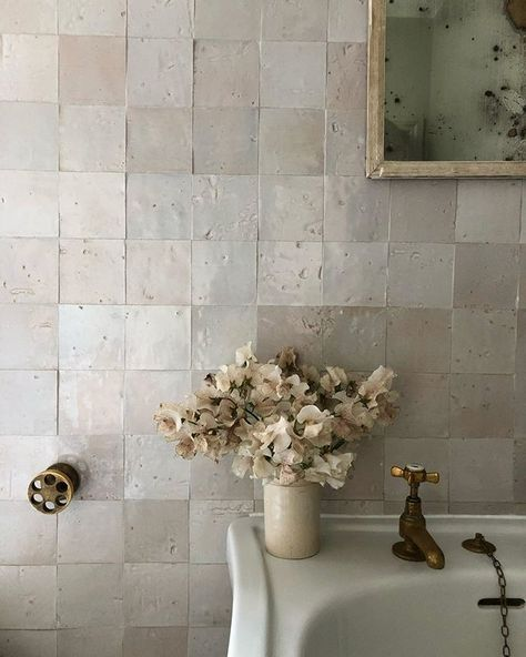Crystal Glass Mosaic Tile Shapes Sweet Pea Pink