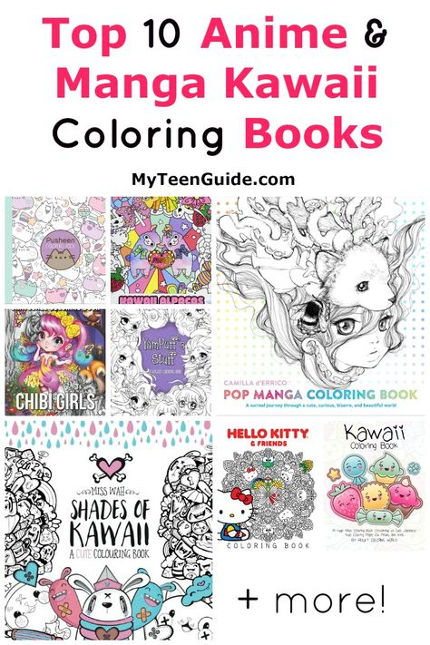 Top 10 Anime & Manga Kawaii Coloring Books   Coloring books ...
