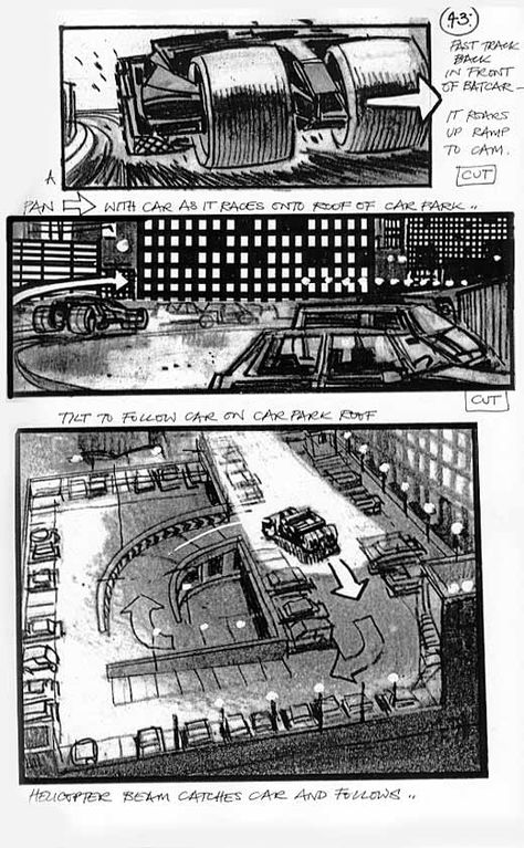 Martin Asbury Batman Begins Storyboard Artist  Film Story Boards