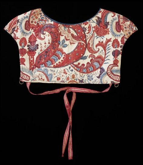 Chintz yoke. Coromandel Coast, India. 1710-1720. Painted and dyed cotton chintz. © Victoria and Albert Museum, London